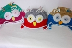 Cappellini Gufo fatto a mano, colori e misura su richiesta