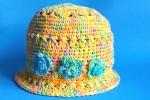 Cappellino giallo per bambina