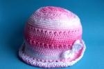 Cappellino rosa di cotone