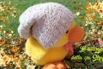 Cappello di lana Alpaca panna all'uncinetto