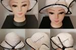 Cappello donna ad uncinetto in cotone nero con paillettes