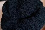 Cappello donna in lana color nero