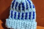Cappello fantasia azzurro/blu