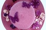 Cappello fuoriporta rosa con decorazioni in fommy