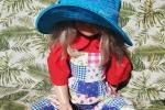 Cappello turchese handmade