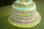 Cappello in rafia colorata da Donna