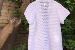 Cardigan a crochet in puro cotone
