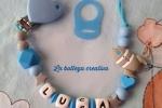 Catenella portaciuccio personalizzata azzurra con nome