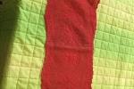 Centro natalizio rosso a filet