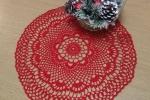 Centrino all'uncinetto natalizio, artigianato siciliano