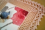 Centrino realizzato a uncinetto in cotone