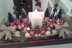 Centro tavola natalizio con candela a forma di stella
