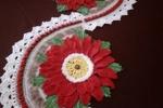Striscia con fiore rosso