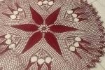 Centrotavola in filo colore rosso