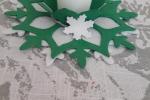 Centrotavola in gomma eva e feltro bianco e verde