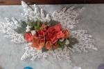 Centrotavola in panno lenci fiori