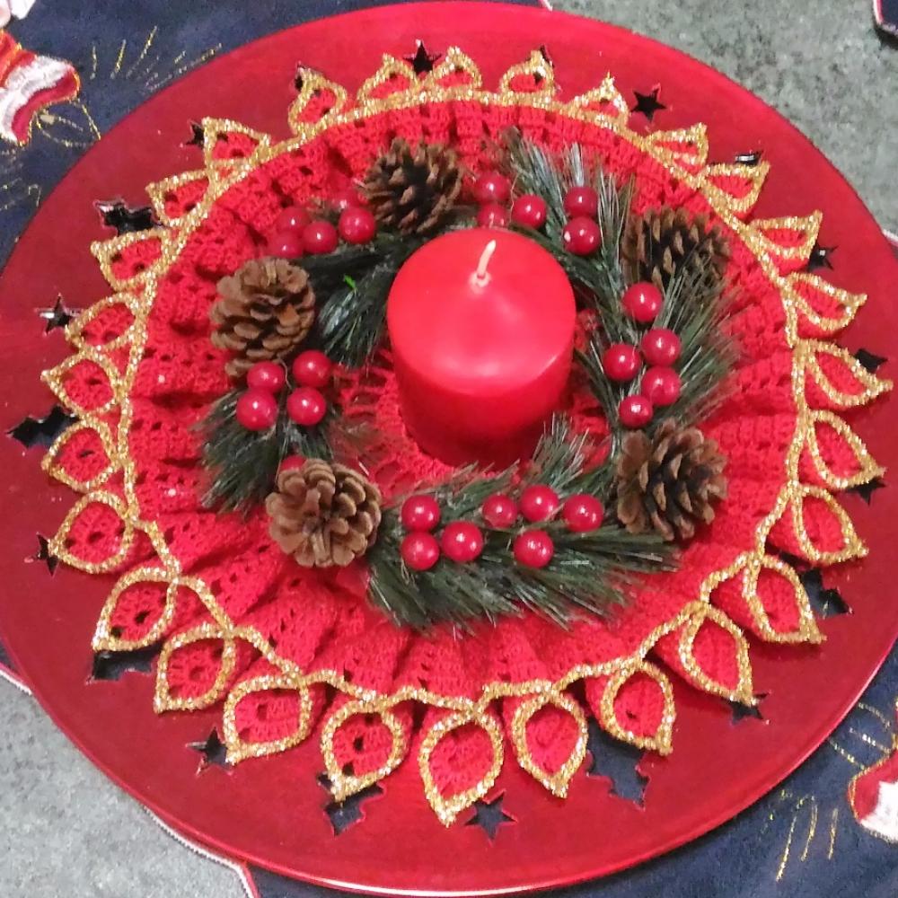 Annunci centrotavola centrotavola natalizio all 39 uncinetto - Centro tavolo all uncinetto ...