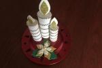 Centrotavola natalizio disponibile anche in altri colori in gomma eva