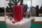 Centrotavola Natalizio con candela e personaggi a tema