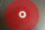 Centrotavola natalizio realizzato a uncinetto cm.40 rosso