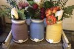Centrotavola stile provenzale dai delicati colori pastello