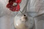 Ceramica Rauku, vaso bianco, peso: 5kg, pezzo unico fatto a mano