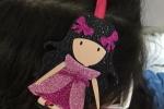 Cerchietti bamboline principesse in fommy