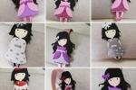 Cerchietto per capelli con applicazioni bambole