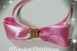 Cerchietto con grande fiocco rosa