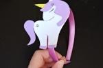 Cerchietto unicorno personalizzabile fatto a mano