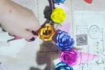 Cerchietto con ornamenti floreali
