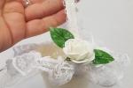 Cestini Bomboniere Portaconfetti Matrimonio con Pizzo