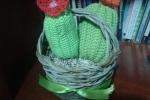 Cestino cactus amigurumi
