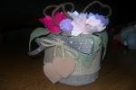 Cestino fiori in feltro e pannolenci