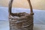 Cesto cestino in vimini, olivo selvatico 7,50 cm x 15 cm