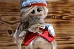 Christmas Doll - Bambolina con sfera plexiglas