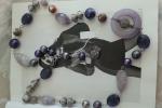 Cintura gioiello con pietre viola