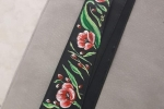 Cinture donna in eco pelle dipinte a mano con fiori