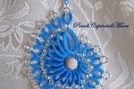 Ciondolo azzurro al chiacchierino, perla in Argento 925