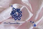 Ciondolo blu al chiacchierino, cristalli Swarovski blu