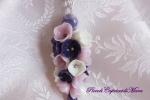 Ciondolo con perla e fiori in pasta di mais