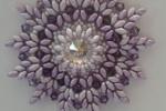 Ciondolo Modigliani con perline, bicono e rivoli swarovski
