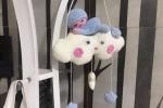 Coccarda nascita nuvola con bebè