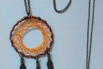 Collana Acchiappasogni viola ed arancione