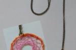 Collana Acchiappasogni rosa ed arancione