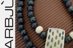 Collana artigianale doppio filo a girocollo con perle di le