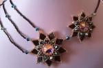 Collana Aurora tecnica di tessitura di perline