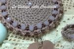 Collana bijoux crochet uncinetto 96 cristalli SW ciondolo