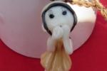 Collana con ciondolo bambolina in ceramica fredda