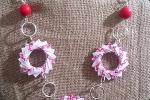 Collana con decorazioni in carta origami
